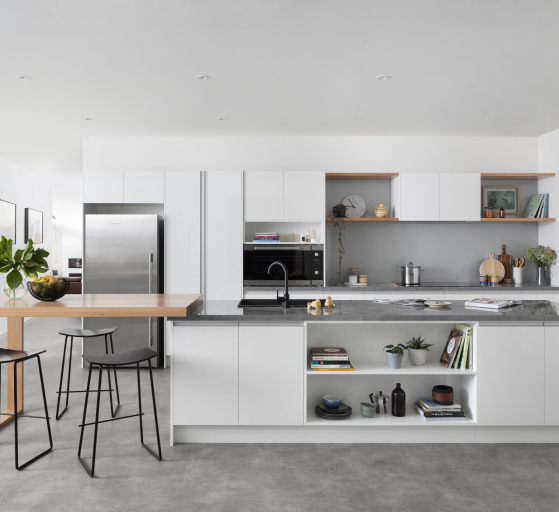 Kitchen design from front angle