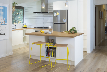 Open modern white kitchen