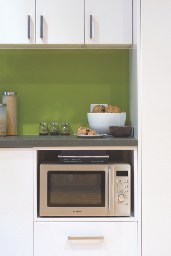 flat pack kitchens gallery - a timeless classic microwave box