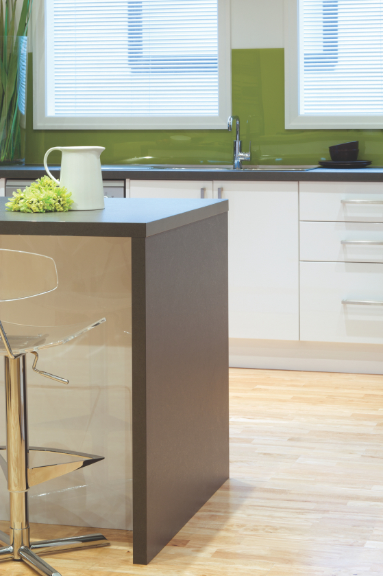 flat pack kitchens gallery- a timeless classic benchtop waterfall ends
