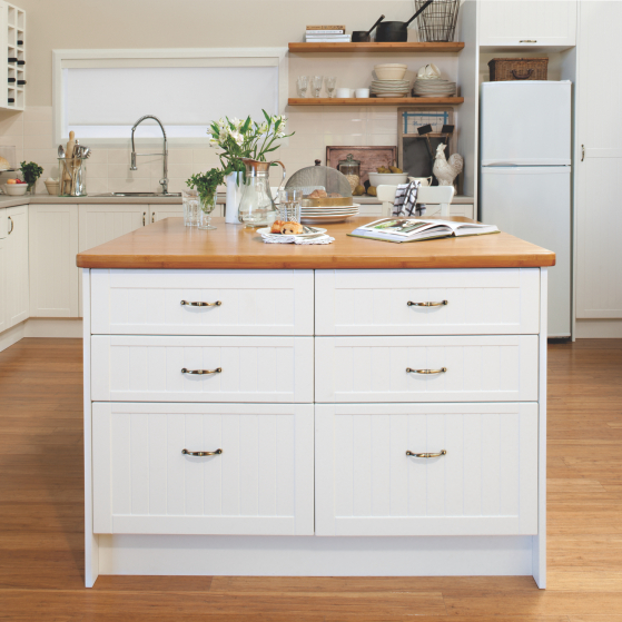 flat pack kitchens gallery - city meets country island