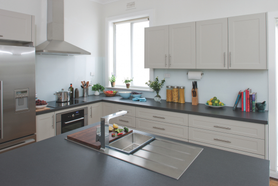 flat pack kitchens gallery - high profile kitchen sink