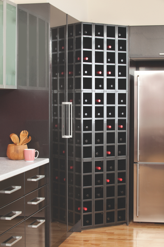 flat pack kitchens gallery - now you're cooking wine rack