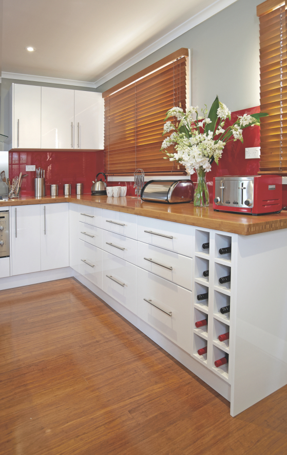 flat pack kitchens gallery - the practical entertainer wine rack
