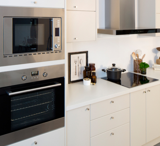 flat pack kitchens project management - kitchen appliance cabinet options