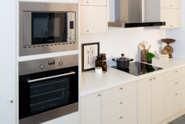 diy kitchens project management - appliance cabinet options