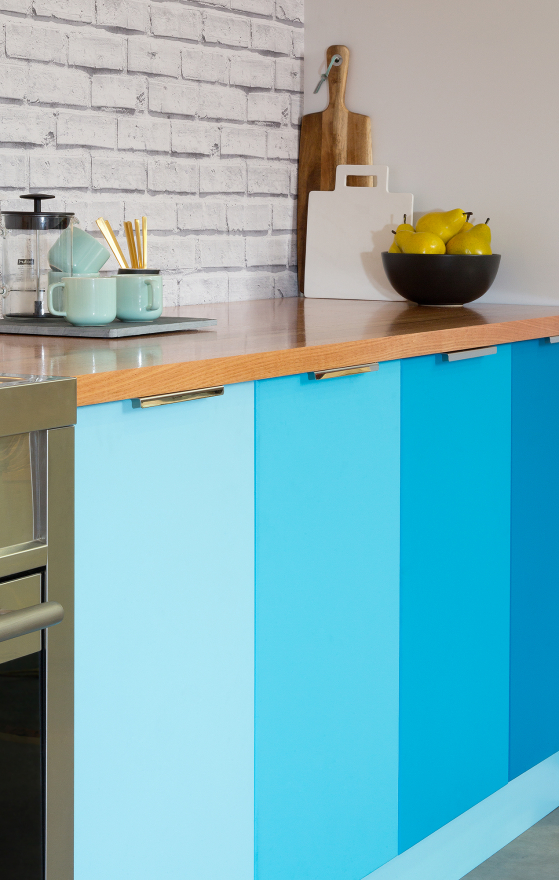 flat pack kitchens gallery  - a sea of colour cabinets