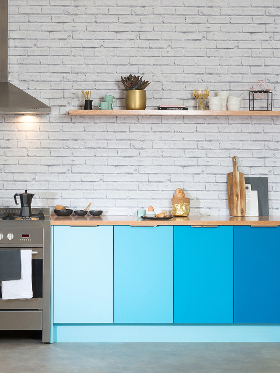 flat pack kitchens gallery - a sea of colour paint your own doors