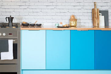 flat pack kitchens gallery - a sea of colour hero