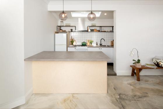 flat pack kitchens gallery - industrial elegance kitchen shelves