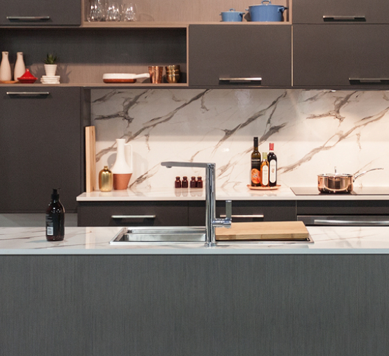 flat pack kitchens project management - thin kitchen benchtops