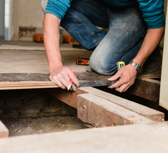 DIY kitchens project management - repairing and laying flooring in your kitchen
