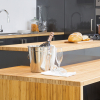 kaboodle kitchen benchtop bamboo AU close up