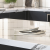 kaboodle kitchen benchtop calcutta gloss feature