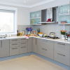 kaboodle kitchen frosted glass kitchen