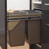 kaboodle kitchen 2 x 11 side mount pullout bin kitchen