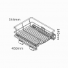 kitchen 450mm soft close pullout basket aus
