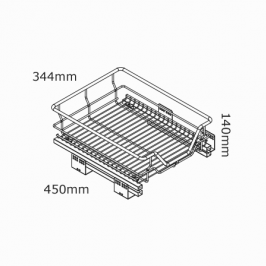kitchen 450mm soft close pullout basket nz