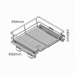 kaboodle kitchen 600mm pullout basket soft close
