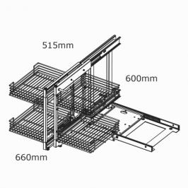 kaboodle kitchen blind corner pullout baskets 2 tier soft close AU