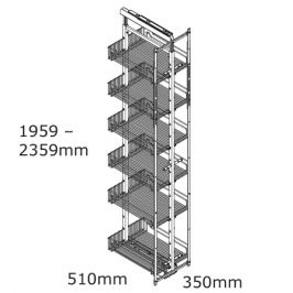 kitchen pantry pullout basket 6 tier