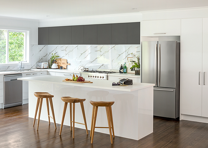 Custom Cut Kitchen With Variable Width Cabinets