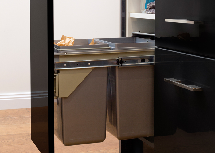 flat pack kitchens project management - waste bins storage solutions