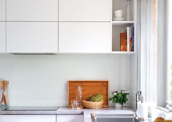 kitchen end panel shelves