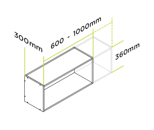 Measuring For Kitchen Cabinets: Cut To Measure Slimline Wall Cabinets