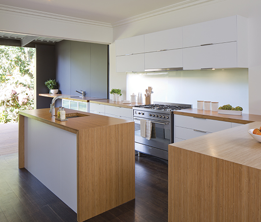 kaboodle kitchen benchtop bamboo AU beautiful kitchen