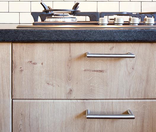 kaboodle kitchen benchtop black toffee AU detail