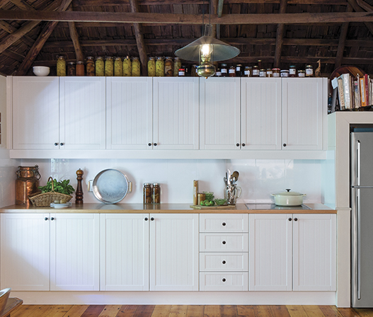 Antique White Kitchen Doors And Panels Kaboodle Kitchen