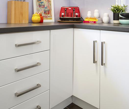 White Gloss Kitchen Cabinet Doors: Kaboodle Kitchen