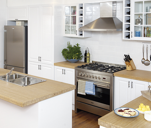 Gloss White Kitchen Cabinets: Kaboodle Kitchen