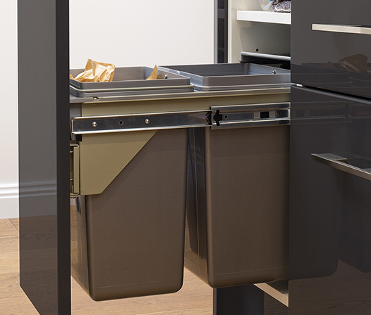 2x11l Side Mount Pullout Bin Kaboodle Kitchen