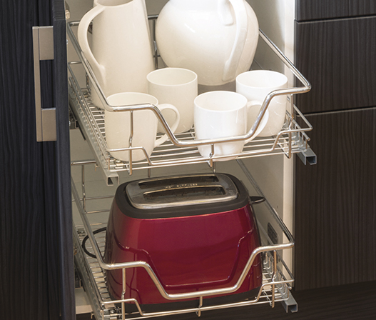 kitchen 450mm soft close pullout basket aus detail