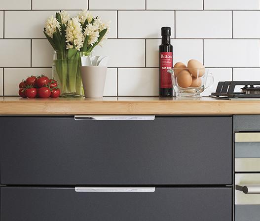 kaboodle kitchen discreet grip handle AU detail