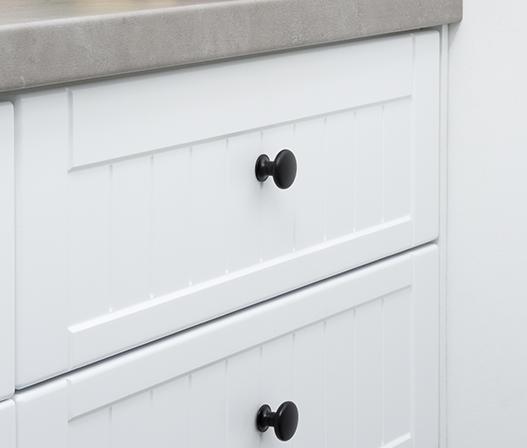 kaboodle kitchen mushroom knob matt black AU detail