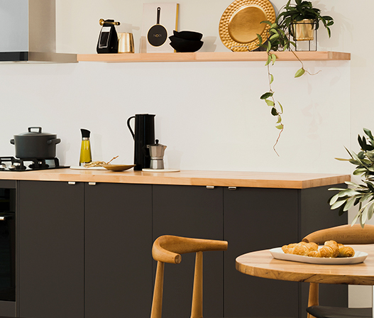 kaboodle kitchen Euro Beech Benchtop chic