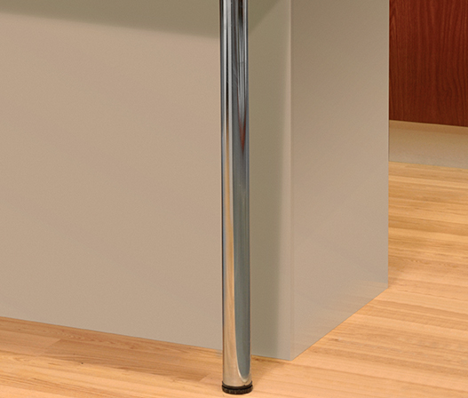 kaboodle kitchen island benchtop chrome legs in kitchen