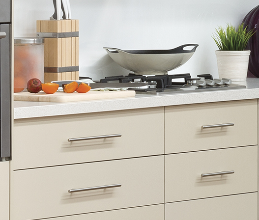 kitchen t-pull handle with kaboodle drawers