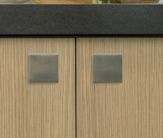 kaboodle kitchen square knob detail