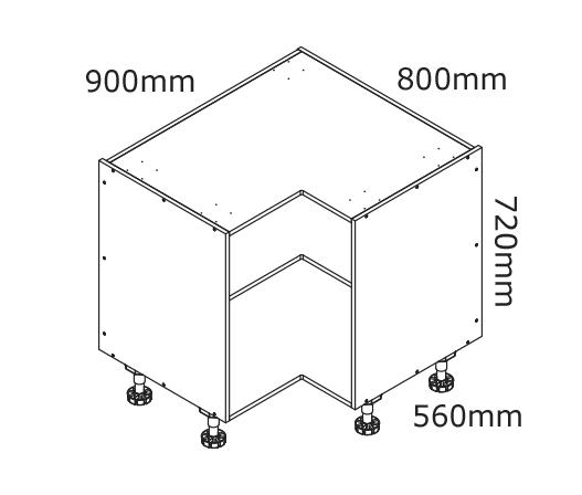 Corner Wall Shelf Unit