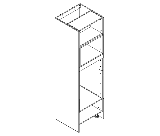 890mm high oven tower