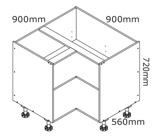 Enjoyable 900Mm Corner Base Cabinet Kaboodle Kitchen Home Remodeling Inspirations Genioncuboardxyz