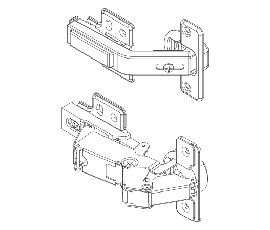 Different cabinet hinges