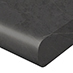 Kaboodle kitchens benchtops profile 10mm radius black pudding