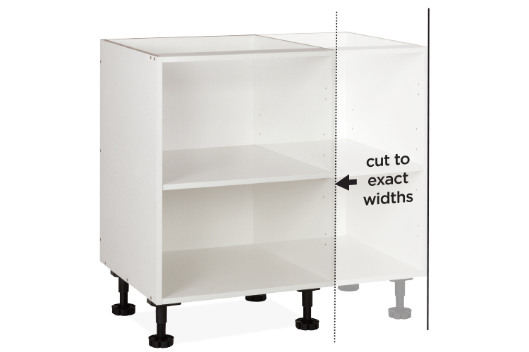 cabinet with variable widths