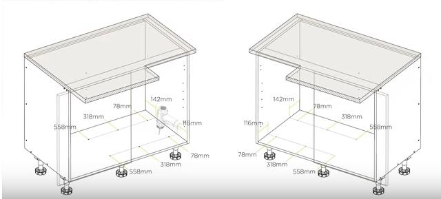blind corner pullout basket assembly demonstration