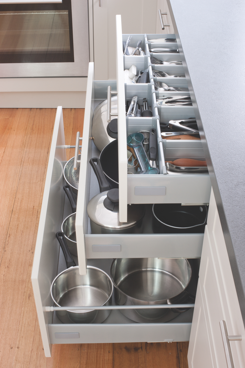 flat pack kitchens design blog - kitchen storage